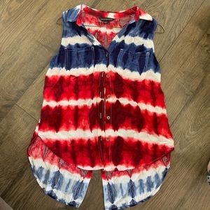 Rock and republic Red white and blue vest